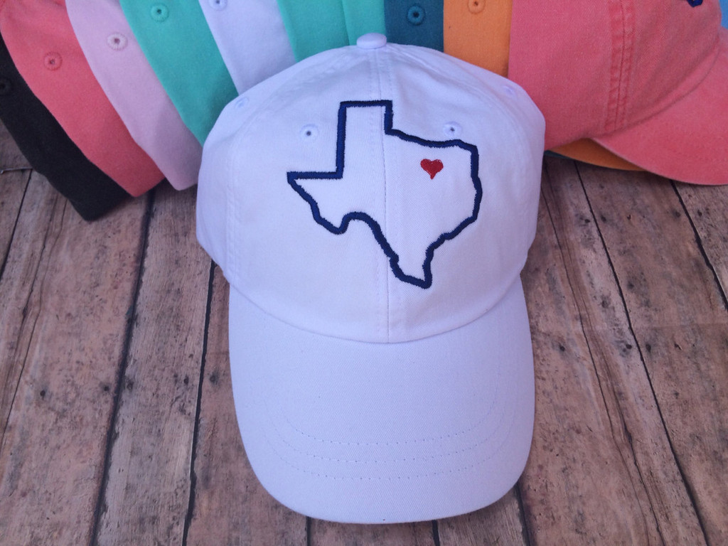 Texas Heart Baseball Hat
