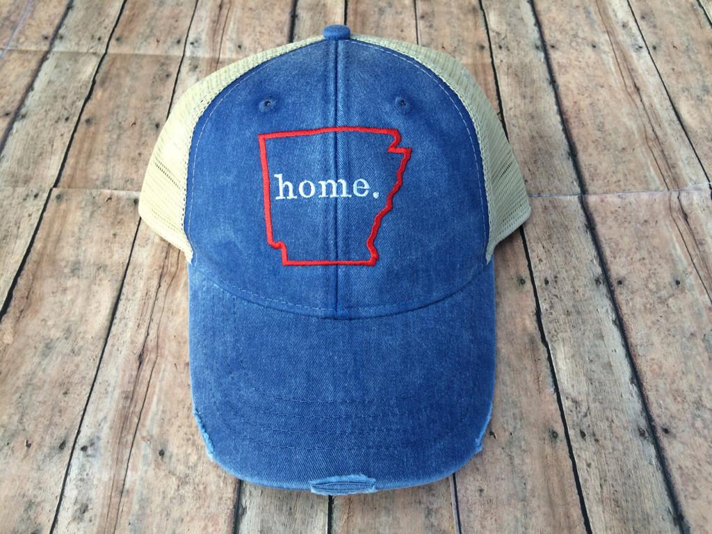 Arkansas Home distressed Hat
