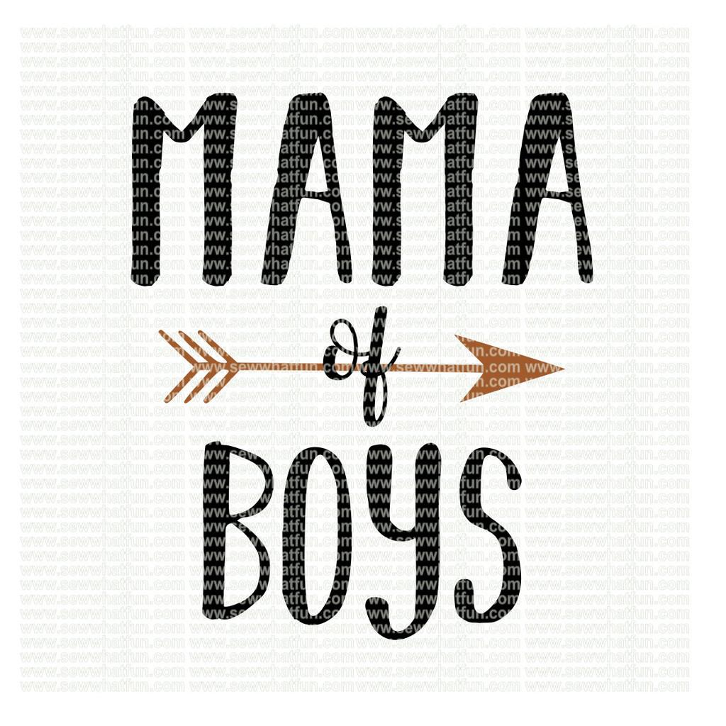 Mama of boys SVG
