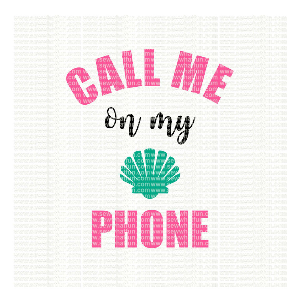 Call me on my shell phone SVG