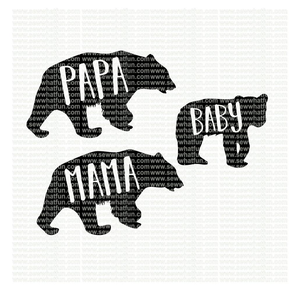 Bear Family SVG