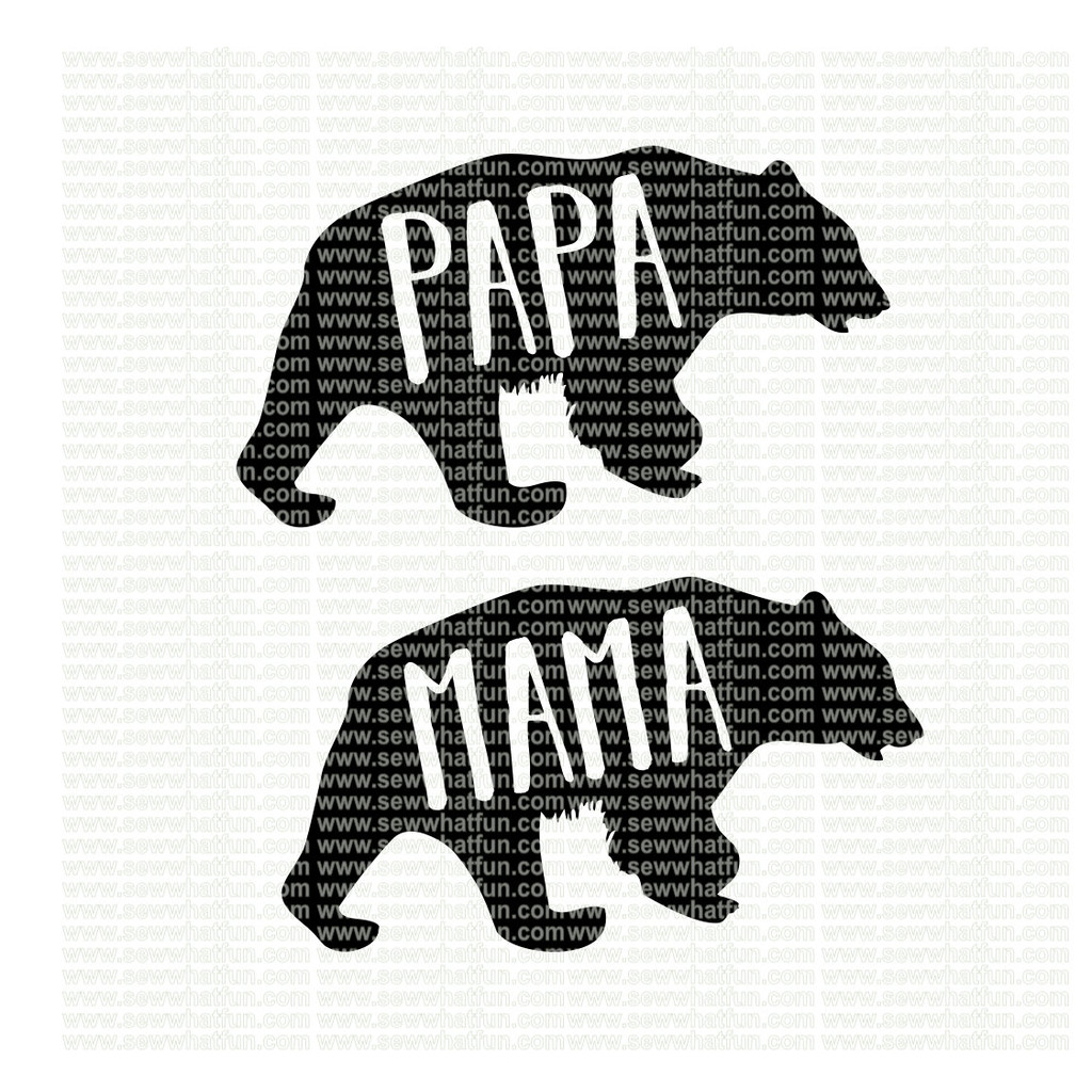 Mama and Papa Bear SVG