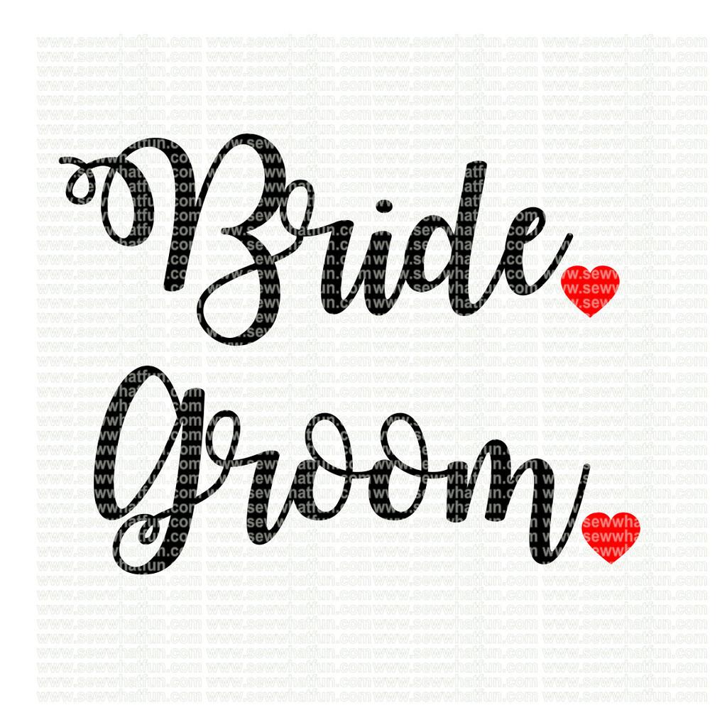 Bride and Groom SVG