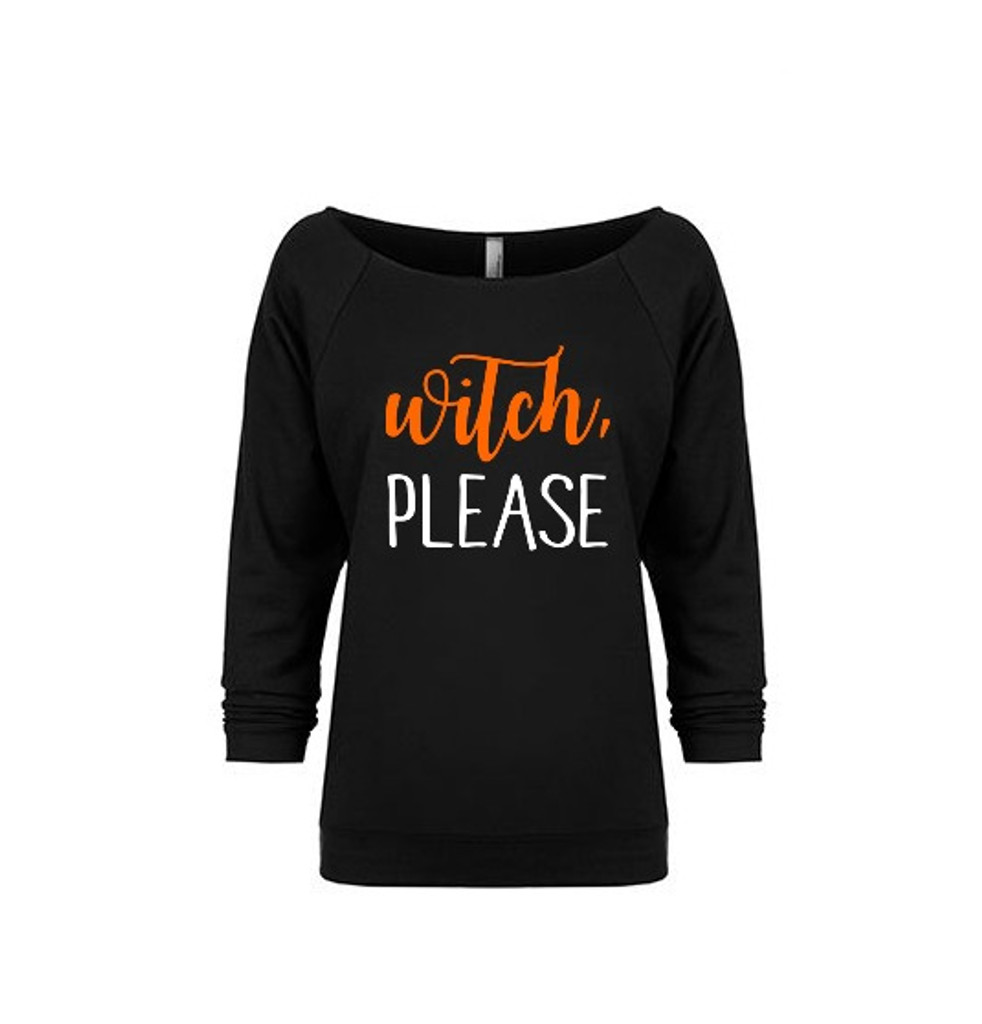 Witch Please Adult French Terry Raglan