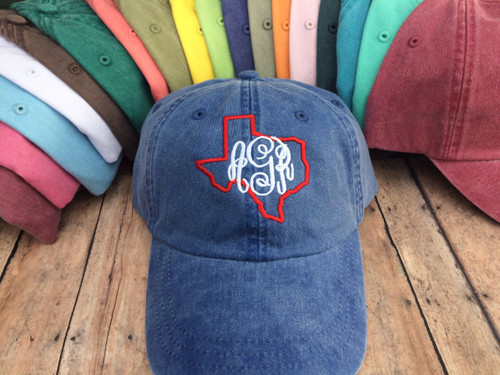 Texas Monogrammed Baseball Hat