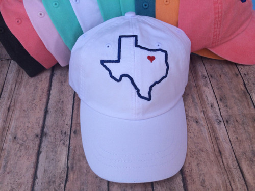 Texas Heart Baseball Hat
