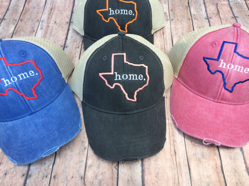 Texas Home distressed Hat