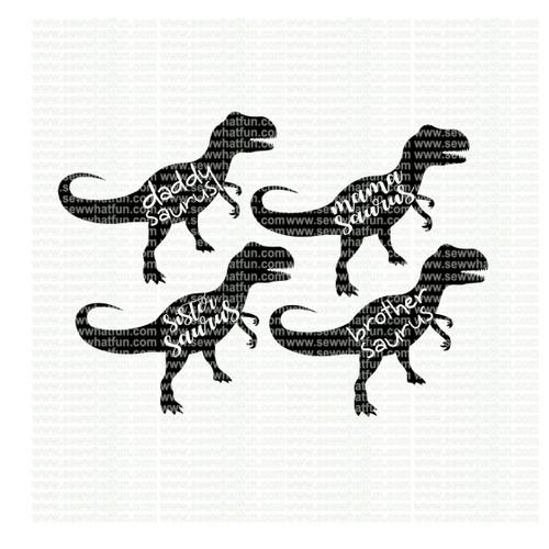 Family Dinosaur SVG