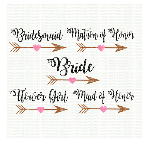 Bridal party SVG