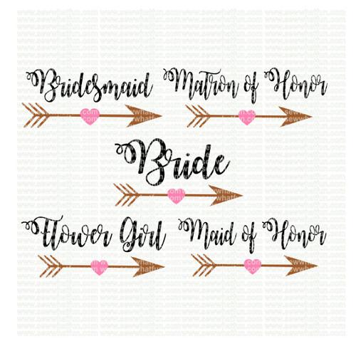 Bridal party SVG