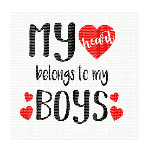 My Heart Belongs to by Boys SVG