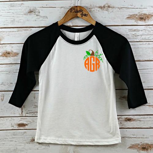 Monogram Pumpkin Youth Raglan