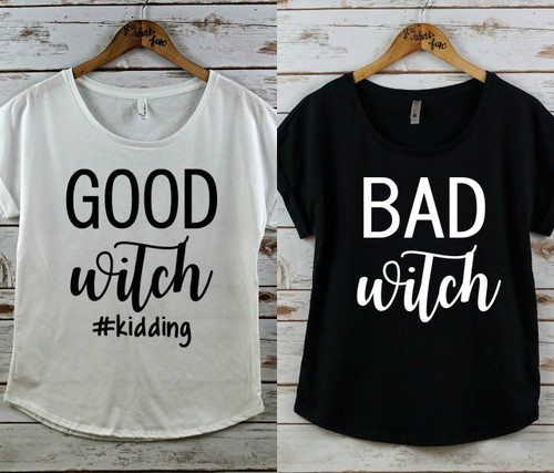 Good Witch and Bad Witch Rolled Sleeve Dolman