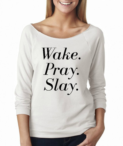 Wake, Pray, Slay French Terry Raglan