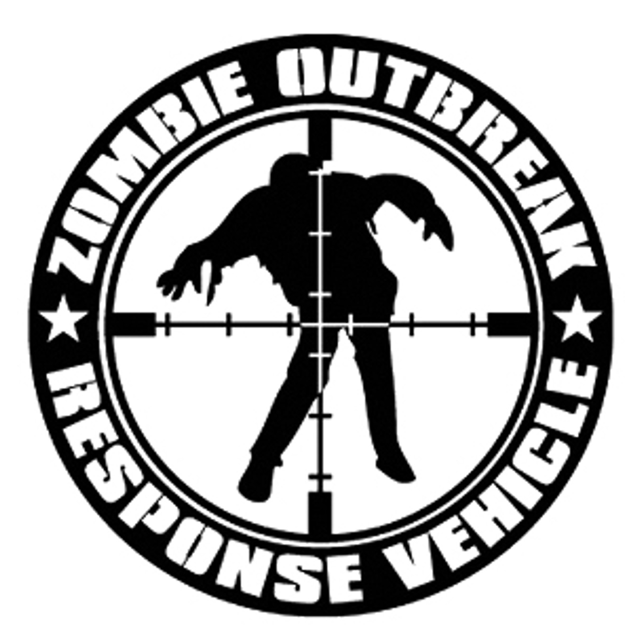Zombie Outbreak Response Vehicle Decal