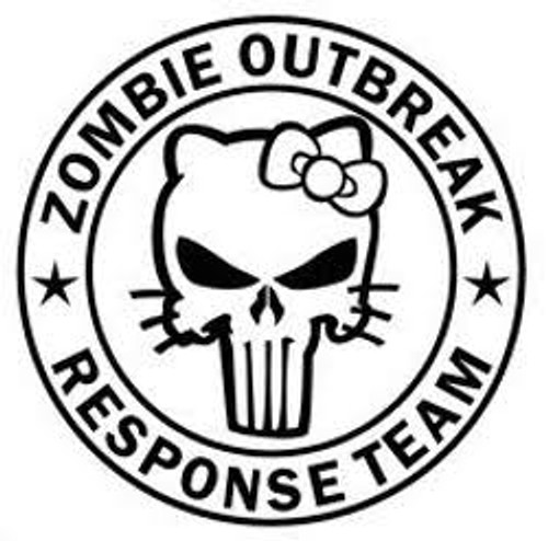 usa 103rd armor regiment 80th Training Command zombie outbreak response team hello kitty decal