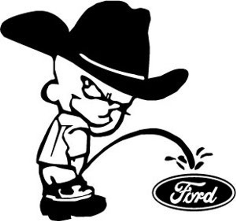 Pissing on ford pic opinion