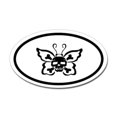 Butterfly Oval Bumper Sticker