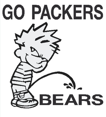 Bears pissing Packer guy on chicago
