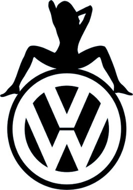 Vw Sexy Girl Decal