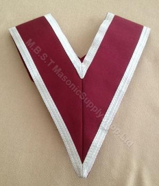 Grand Stewards Collar in crimson with Silver trim