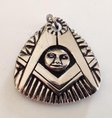 Masonic Blazing Sun Pendant Steel