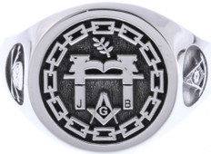 Custom Masonic Round Face Ring --- Your Choice of Symbols