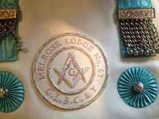 Silver MM Apron  with Silver  Lodge Badge