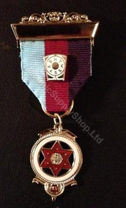 Royal Arch Companion Jewel  Tri-Coloured Ribbon