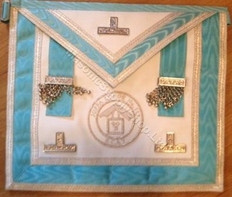 Silver PM Apron  with Silver  Lodge Badge