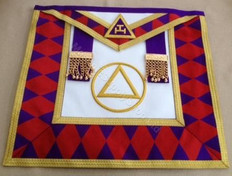Royal Arch Grand Chapter Apron with Circle  No Fringe    APR-RA-GC-C