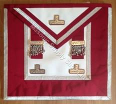 Grand  Stewards   Apron  Crimson Silver Trim