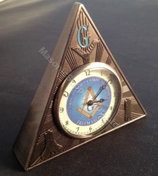 Masonic Triangle  Desk Clock