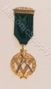 AMD Breast Jewel  Emerald Green Ribbon  Appointed Grand Officer