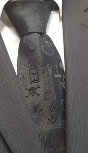 Masonic Working Tool Tie