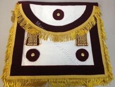 Scottish  Master Mason Apron Burgundy  -Velvet