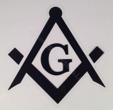 Set of 2 - 3in Car Decals. Black Square & Compass with G   (For Tail Lights)