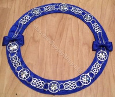 Officers Chain Collar Royal Blue and Silver