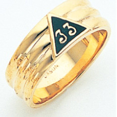GOLD SCOTTISH RITE BAND RING