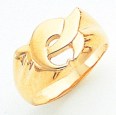 GOLD SHRINE RING WITH CIMITAR AND CRESCENT MAS2456SH