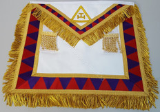 Royal Arch Companion's Apron with Gold Fringe /Trim     APR-RA-COM-F