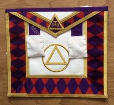 Royal Arch Grand Chapter Apron with Circle  No Fringe Purple Diamonds    APR-RA-GC-C-P