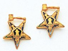 EASTERN STAR EARRINGS PAST MASTER GAVEL MAS965ERPM