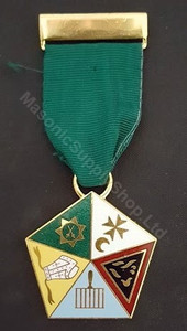 English Style Allied Masonic Degree Members Jewel