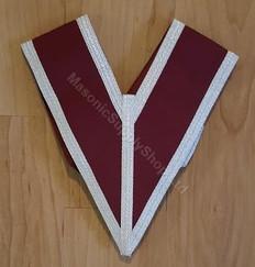 Grand Stewards Collar in crimson with Silver Trim-2