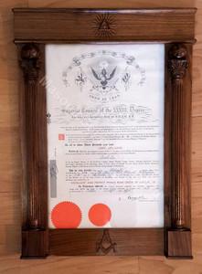 Masonic Certificate Frames  11 x 17