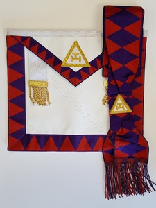 Royal Arch Companion Apron, Sash and Jewel Special    (Purple Diamonds on Sash)