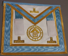 Centennial Worshipful Master/Past Master Apron with Gold Lodge Badge