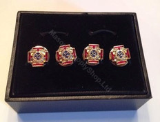 Scottish Rite 32rd Degree  Shirt Studs  set of 4