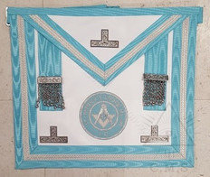 Irish  Past Master Apron with Lodge Badge